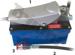 Pneumaticko hydraulická pumpa s manometrom vrátane príslušenstva