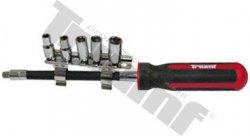 """Flexibilný skrutkovač s 1/4""""x 150mm s hlavicami, veľkosti 5,6,7,8,10mm"""