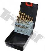 Sada vrtákov HSS Tin vybrusovaných vrtákov 1 - 10 mm, 19 dielna