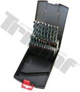 Sada vrtákov HSS vybrusovaných, čiernych - 1 - 10 mm, 19 - dielna