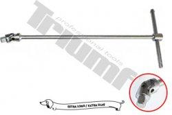 """Kľúč """"T"""" e xtra dlhý s nastaviteľnou rukoväťou - 1/4"""" x 500 mm"""