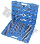 Kombinovaná sada závitníkov, kvalita NO, 110-dielna, M6-M18, UNF10-32-1/2-20, UNC4-40-1/2-13